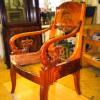 Кресло, XIX в. Эклектика. Красное дерево. Реставрация.