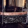 Стол с мраморной крышкой, XIX в. Китай. Палисандр. Предмет полностью рассохся, утрачены элементы резьбы. Полное восстановление.
