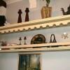Декоративня полка для посуды. Стилизация под готический стиль. Крашеный дуб. Размеры 160х70