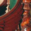 Кресло. Авторская работа. Красное дерево, кожа.